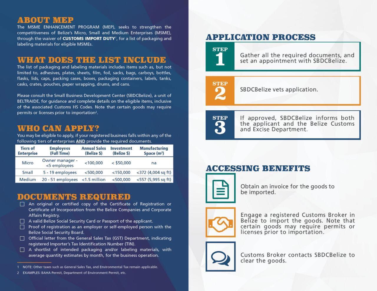 MSME's Enhancement Program (MEP) - Policy Tracker